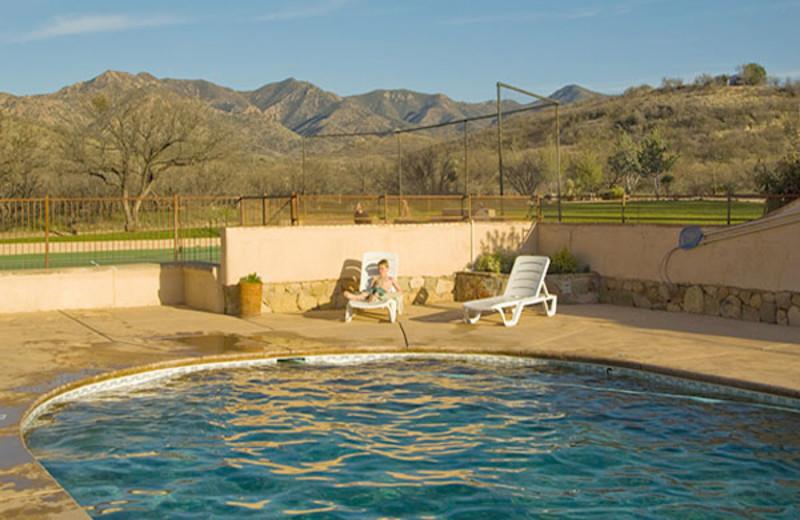 Outdoor pool at Circle Z Ranch.
