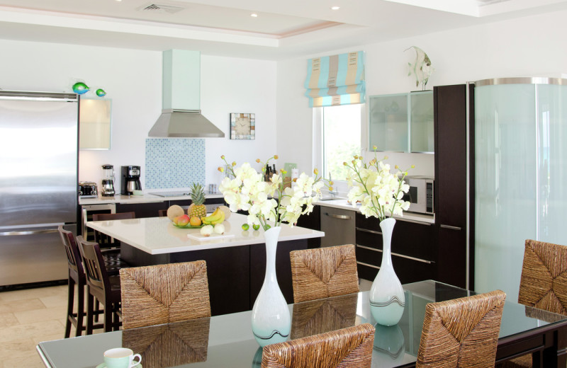 Villa kitchen and dining room at Island Properties Luxury Rentals.
