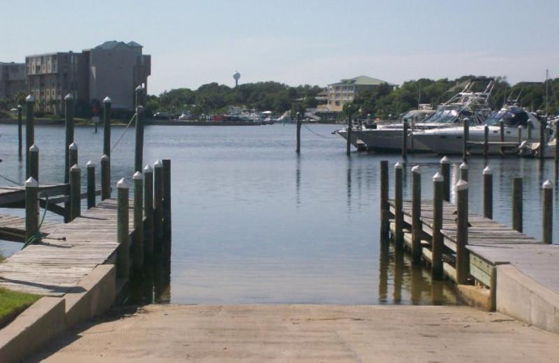 Boat landing at Sandpiper Cove.