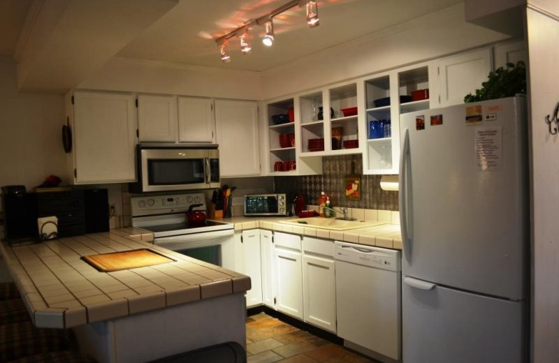 Vacation rental kitchen at Brian Head Vacation Rentals.
