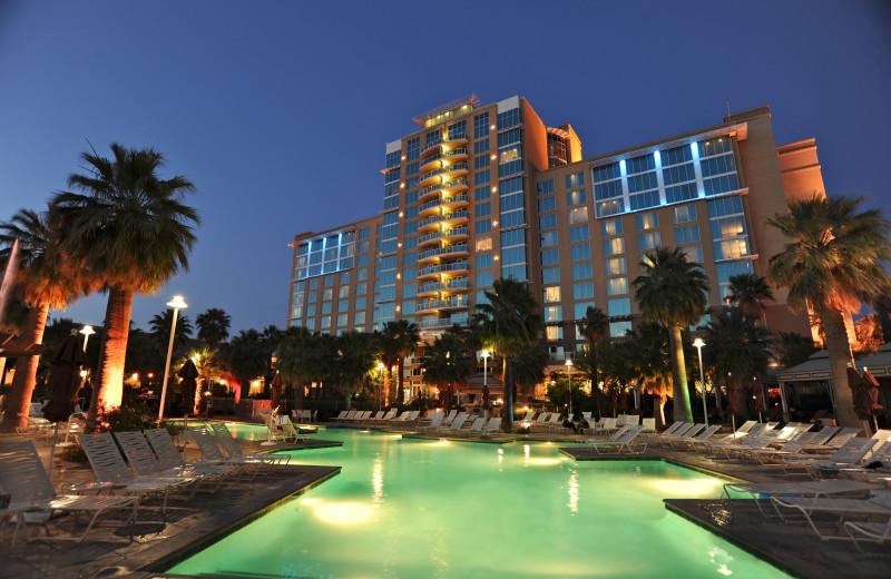 Exterior view of Agua Caliente Casino Resort.