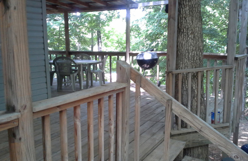 Rental deck at Dale Hollow Cabins.