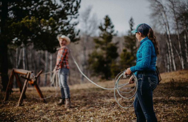 Ranch activities at Big Creek Lodge.