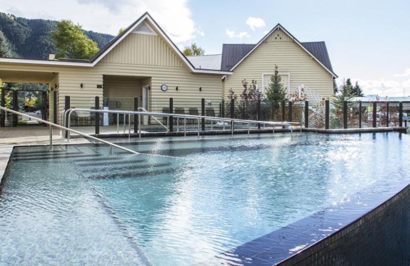 Outdoor pool at Jackson Hole Lodge.