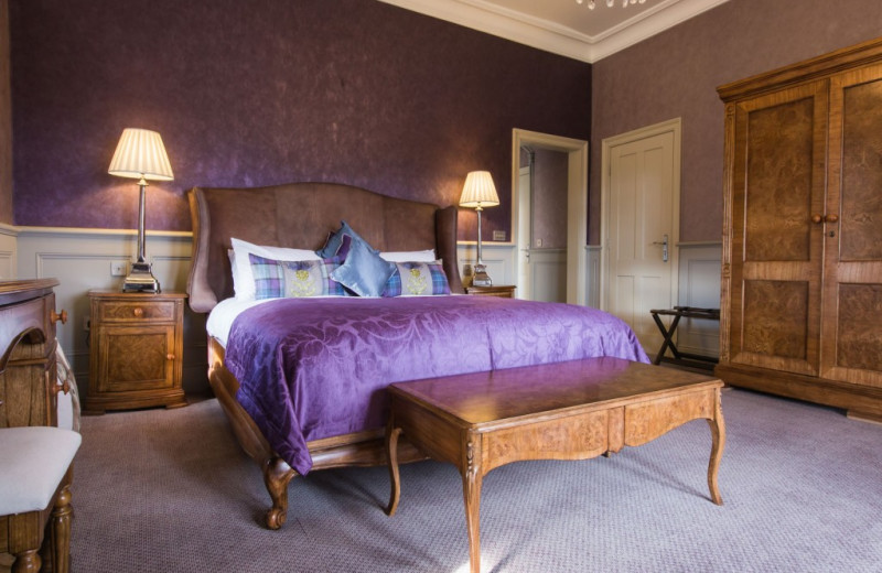 Guest room at Muckrach Lodge Hotel and Restaurant.