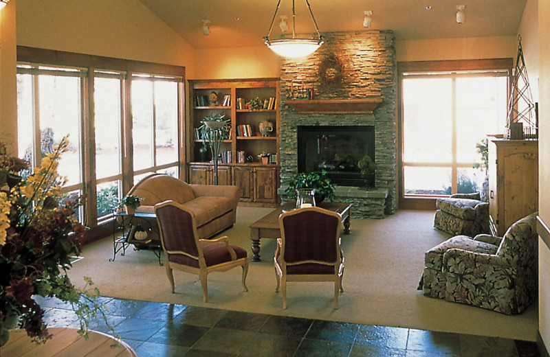 Lobby area of the Resort Conference Center at Mount Bachelor Village Resort.