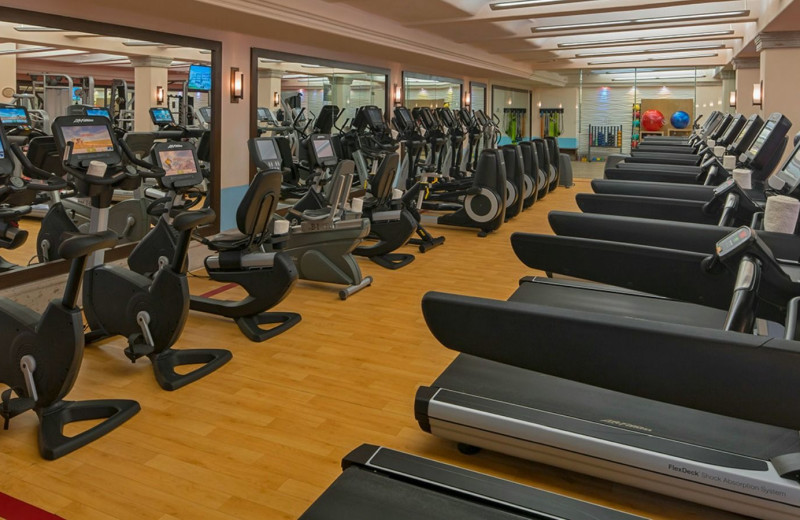 Fitness room at Sheraton Hacienda del Mar Resort & Spa.