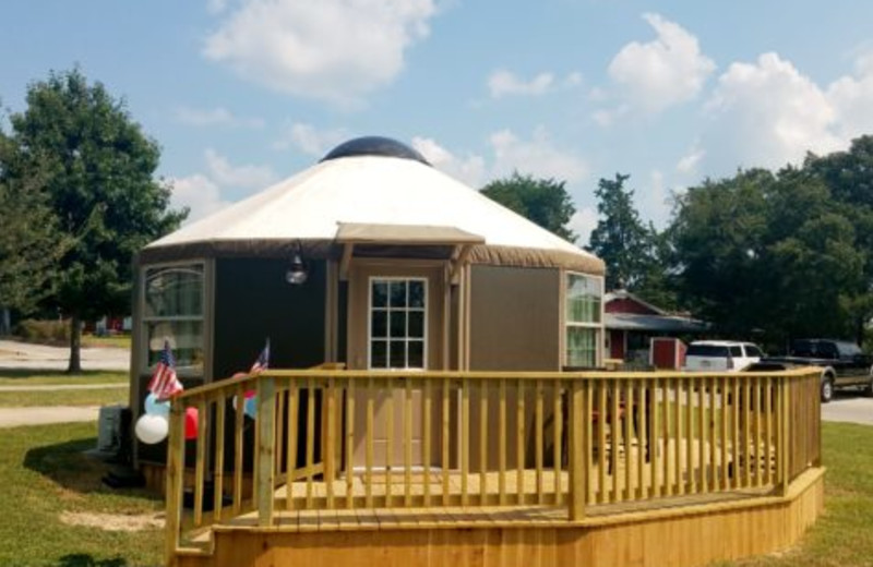 Yurt at Mill Creek Ranch Resort.