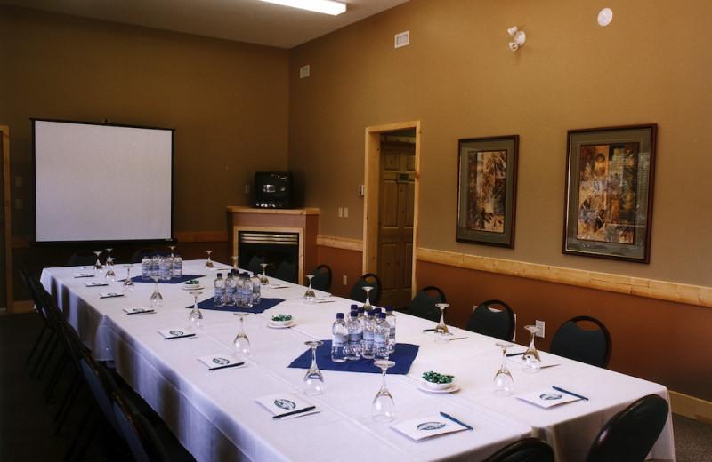 Meetings at Overlander Mountain Lodge.