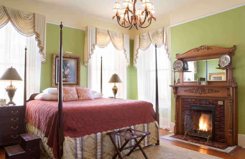 Guest room at Foley House Inn.