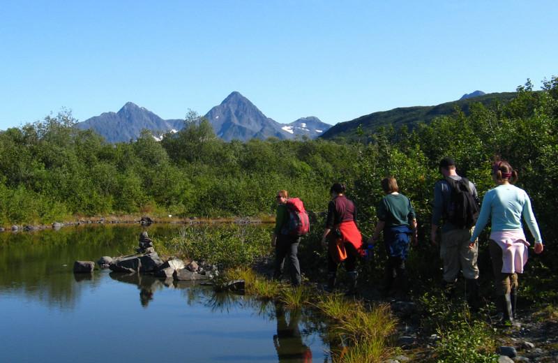 Hiking at Kenai Fjords Glacier Lodge.