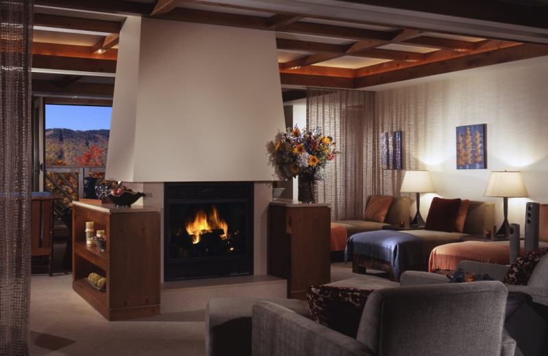 Lounge at Stowe Mountain Lodge.