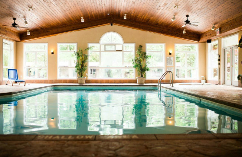 Indoor pool at Oakwood Resort.