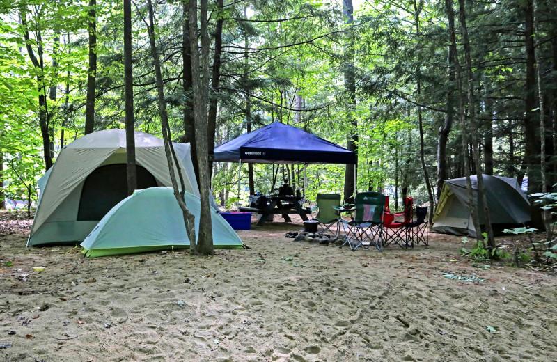 Campground at Glen Ellis Family Campground.