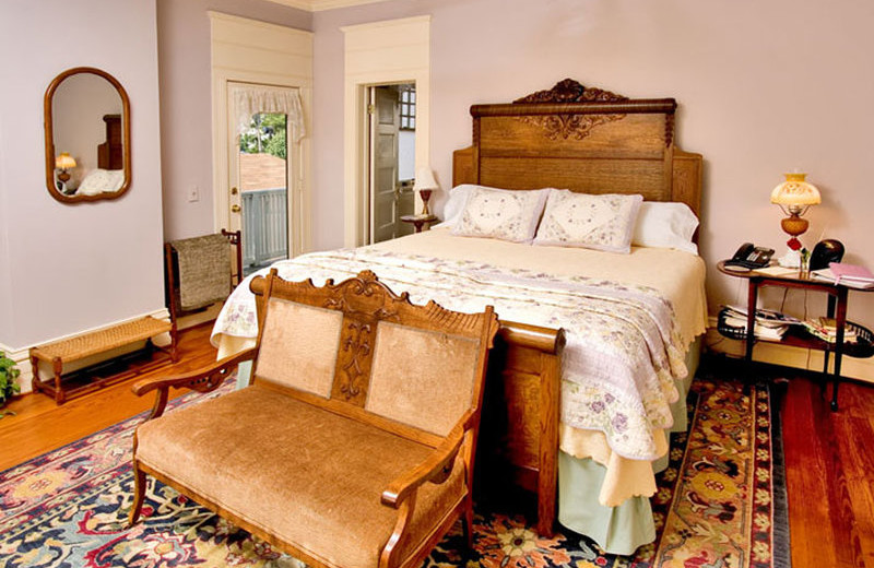 Guest room at Corinthian Bed & Breakfast.