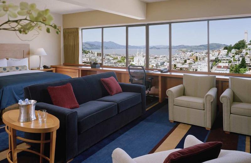 Guest suite at Hilton San Francisco.