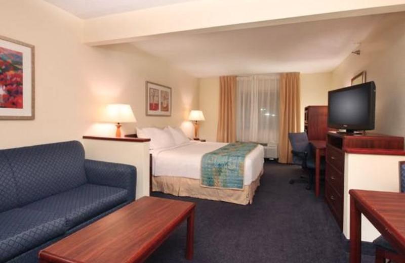 Guest room at Fairfield Inn Bay City.