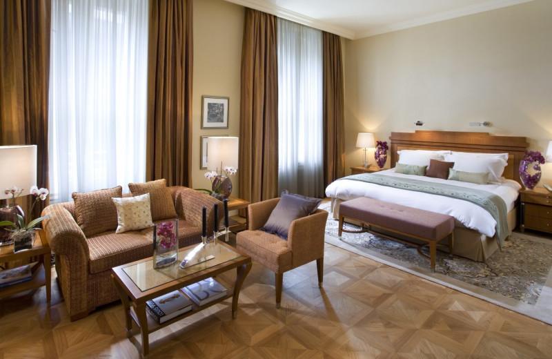 Guest room at Mandarin Oriental, Munich.