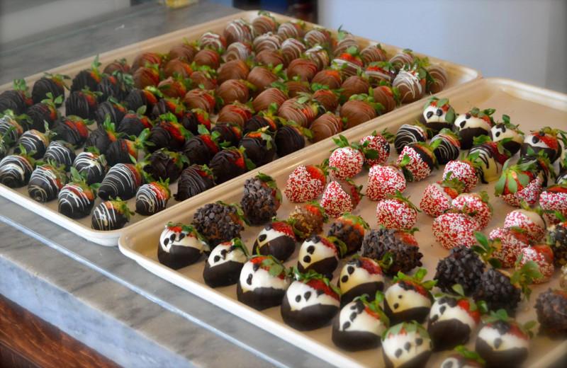 Chocolate strawberries at Webb's Year-Round Resort.