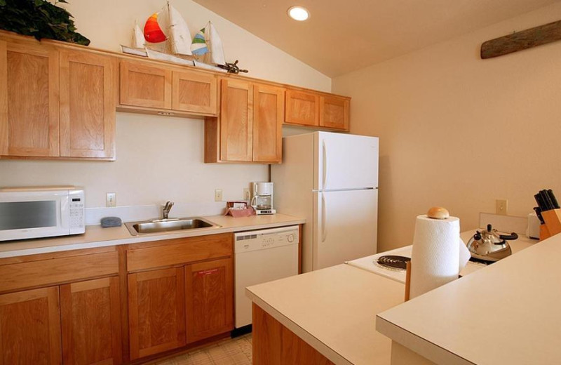 Guest kitchen at Lighthouse Oceanfront Resort.