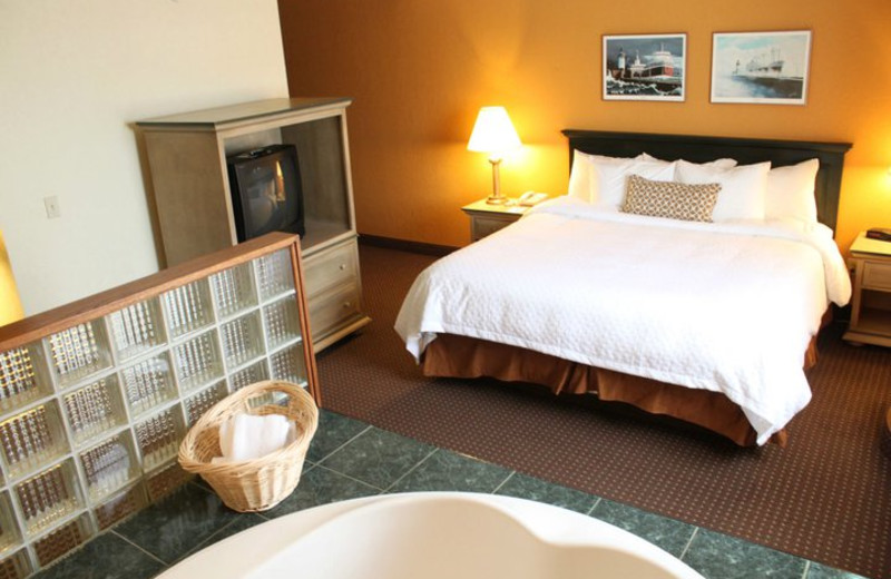Premium whirlpool suite at The Suites Hotel at Waterfront Plaza.