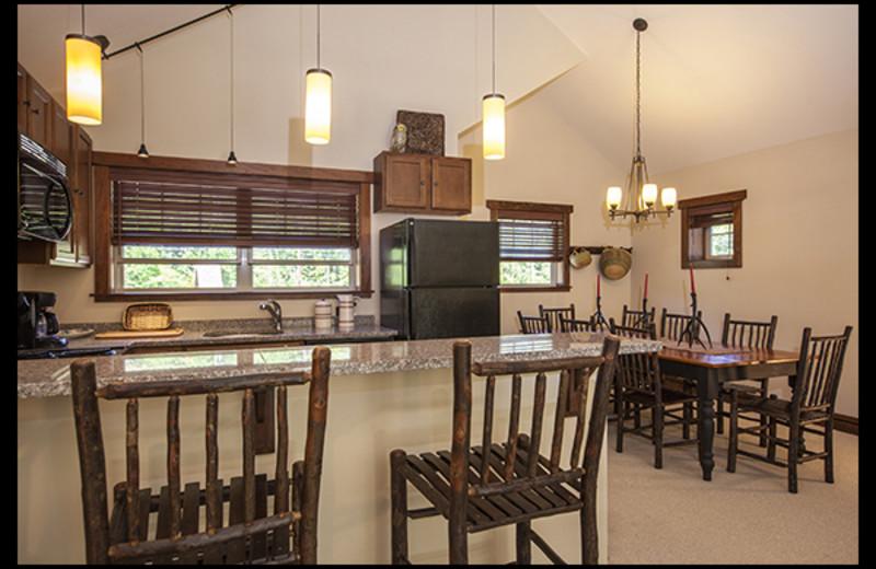 Rental kitchen at Owaissa Club Vacation Rentals.