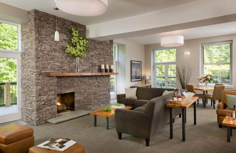 Fireplace at Ledges Hotel