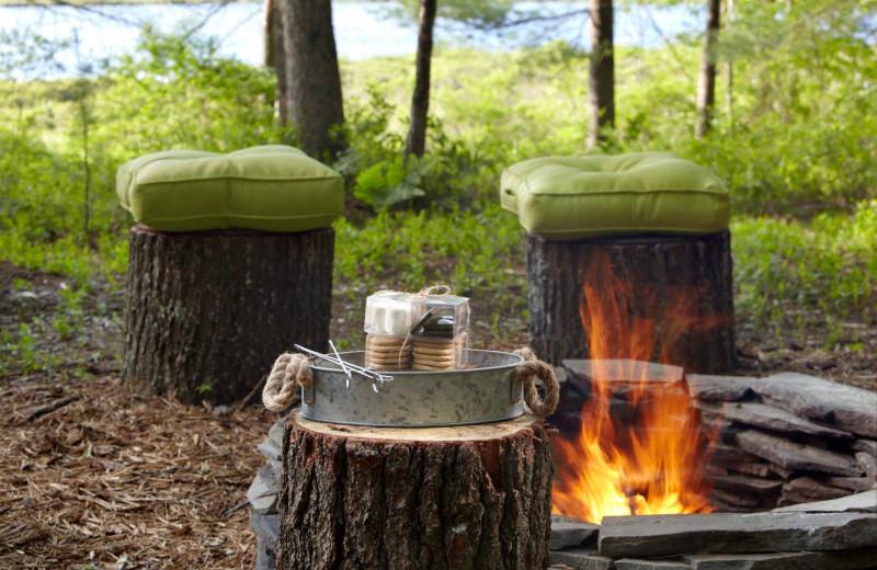 Bonfire at The Lodge at Woodloch.