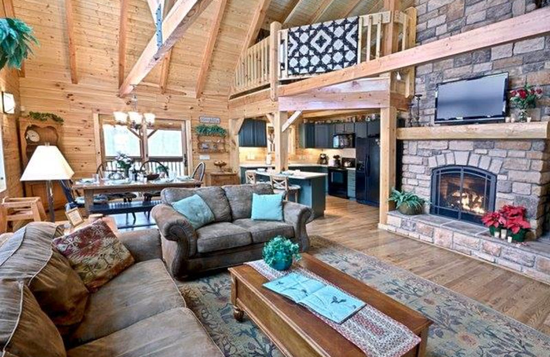 Great room at The Lodge at Lane's End.