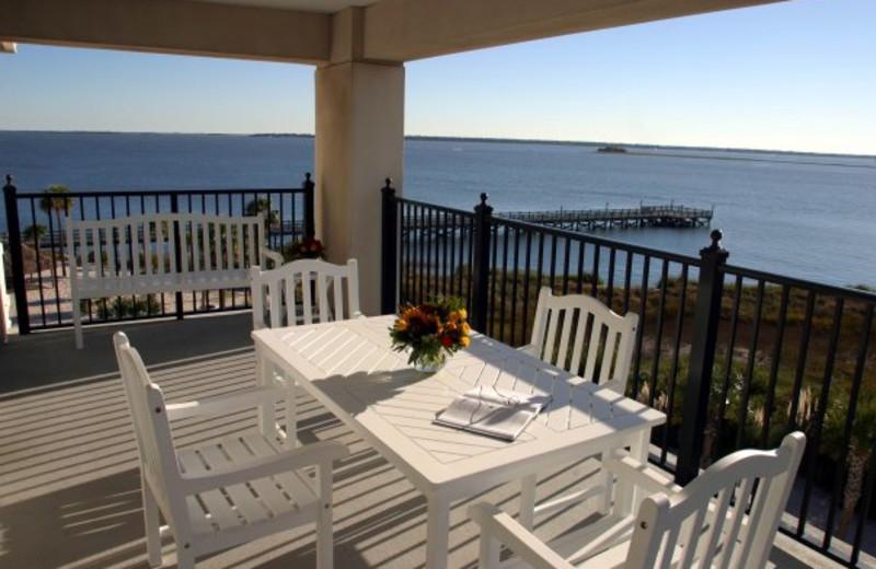 Patio Dining at  Charleston Harbor Resort