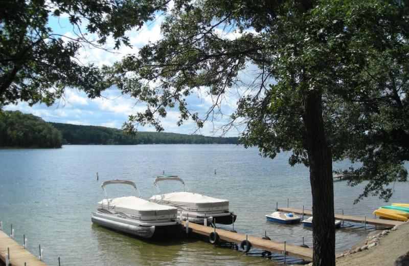 Pontoon rentals at Kavanaugh's Sylvan Lake Resort.