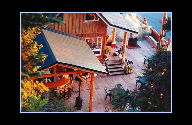 Exterior view of Alaska's Peterson Bay Lodge & Oyster Camp.