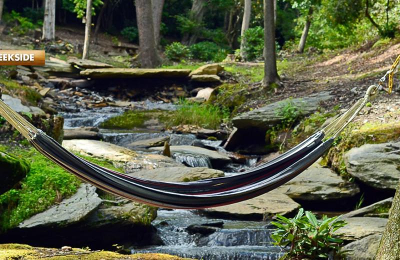 Rental hammock at High Rock Rentals.