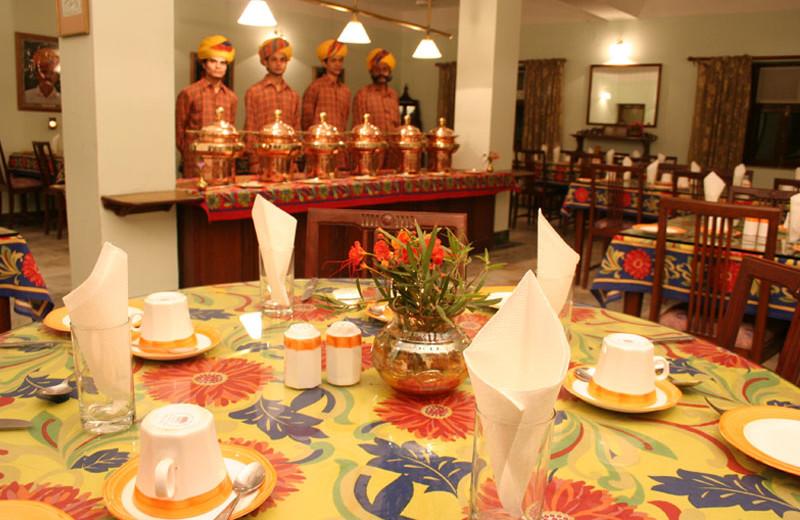 Dining room at Karni Bhawan.
