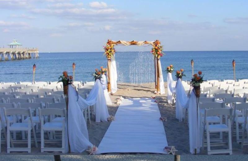 Beach Weddings at Wyndham Deerfield Beach Resort
