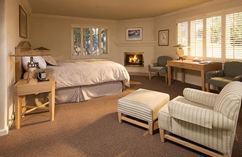 Guest room at Carmel Lodge.