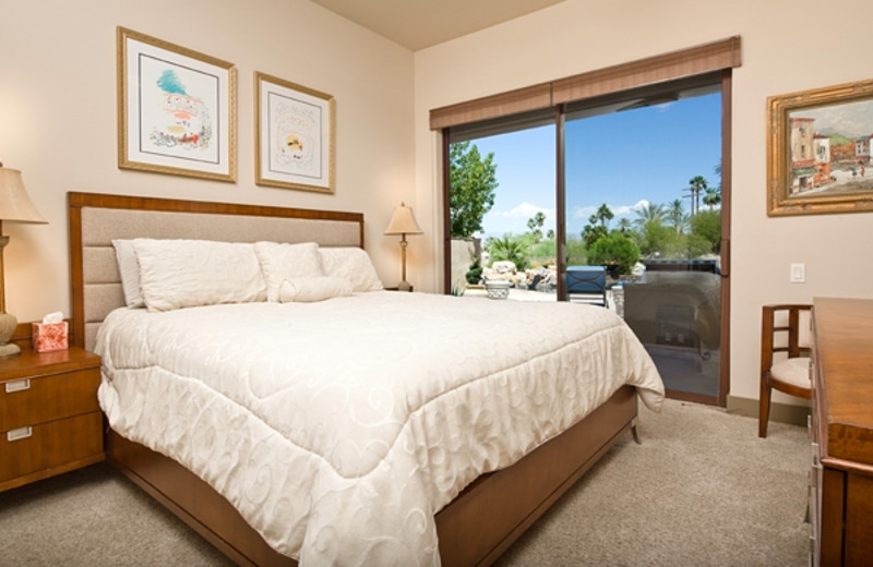 Vacation rental bedroom at Greater Palm Springs Realty.