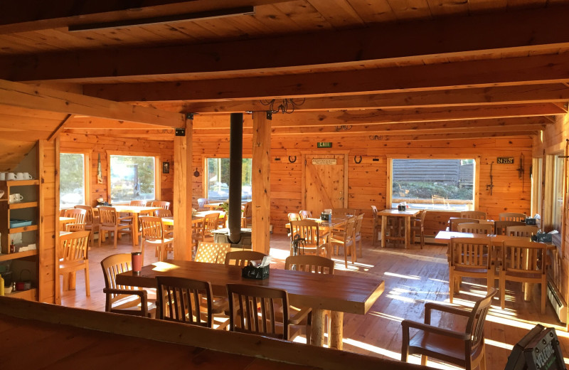 Dining at Trappers Lake Lodge & Resort.