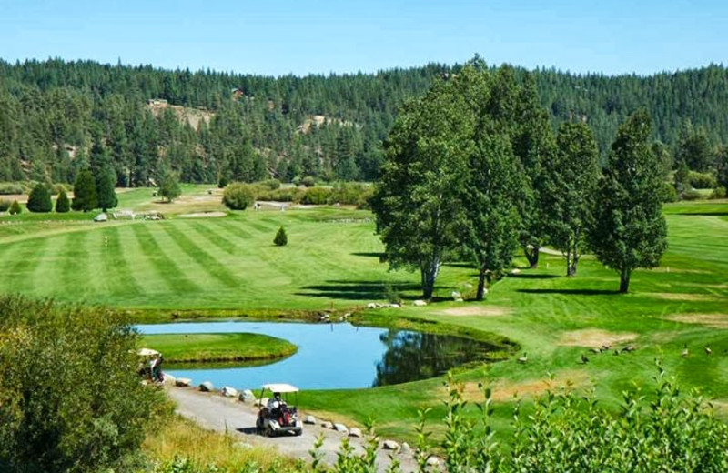 Golf course near St. Bernard Lodge.