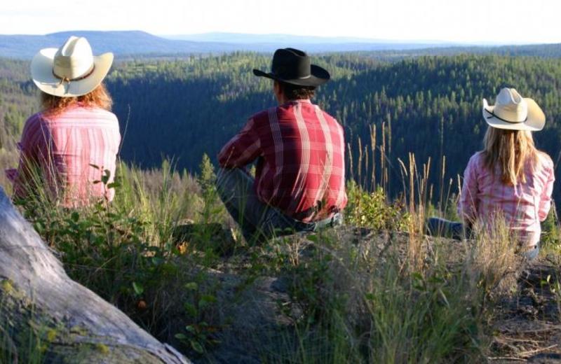 Enjoying the View at Siwash Lake Ranch