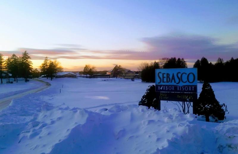 Winter at Sebasco Harbor Resort.