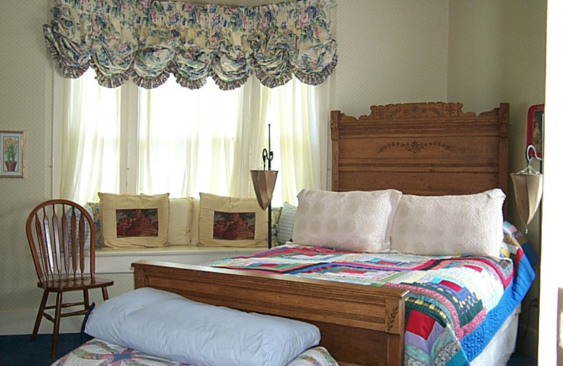 Guest room at Warfield House Bed & Breakfast.