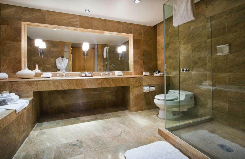 Suite bathroom at Inn at Laurel Point.
