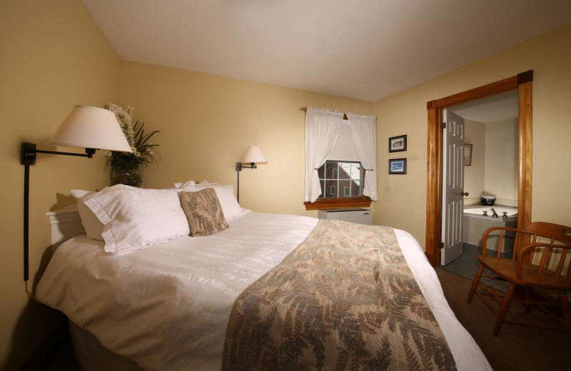 Guest bedroom at Kettle Creek Inn & Restaurant.