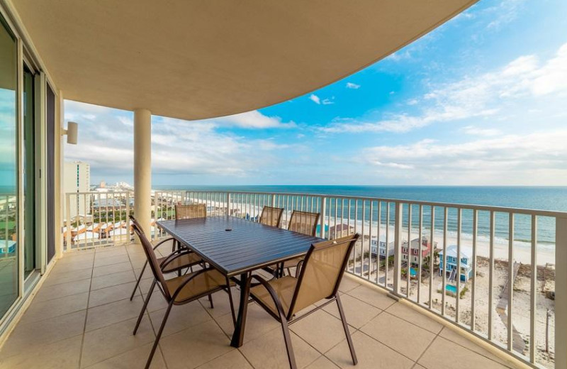 Rental balcony at Sugar Sands Realty & Management.