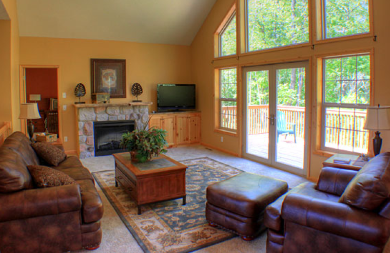 Cabin living room at Big Sandy Lodge & Resort.