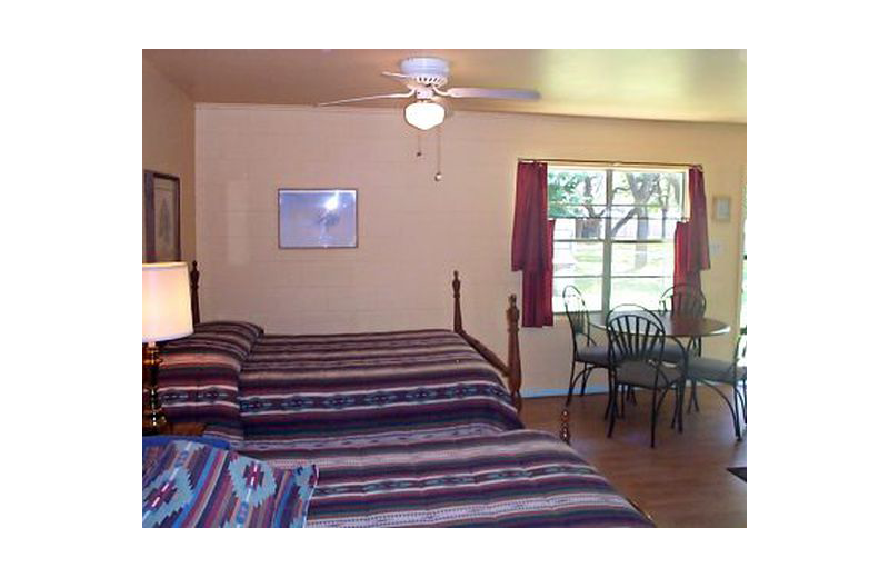 Guest room at Lakeside Lodge on East Lake Buchanon.