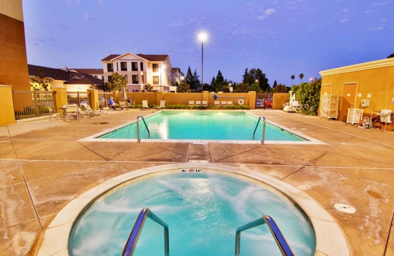 Outdoor pool at SpringHill Suites Fresno.