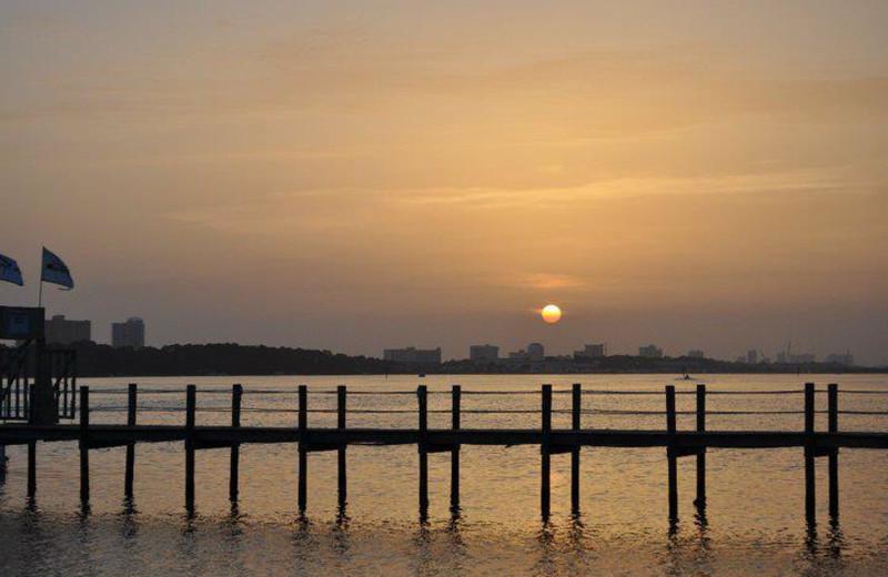 Sunset at Bay Point Resort Rentals.