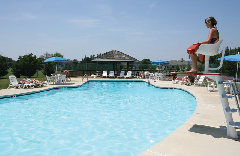Outdoor pool at Harbourtowne Golf Resort